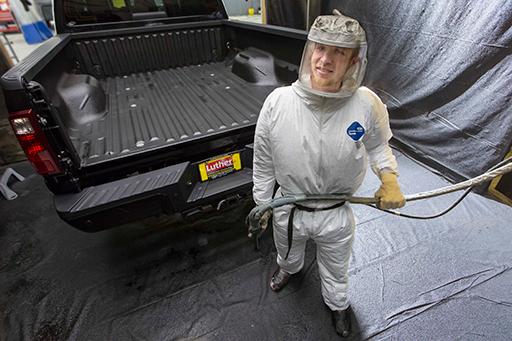 Spray In Bedliner Application