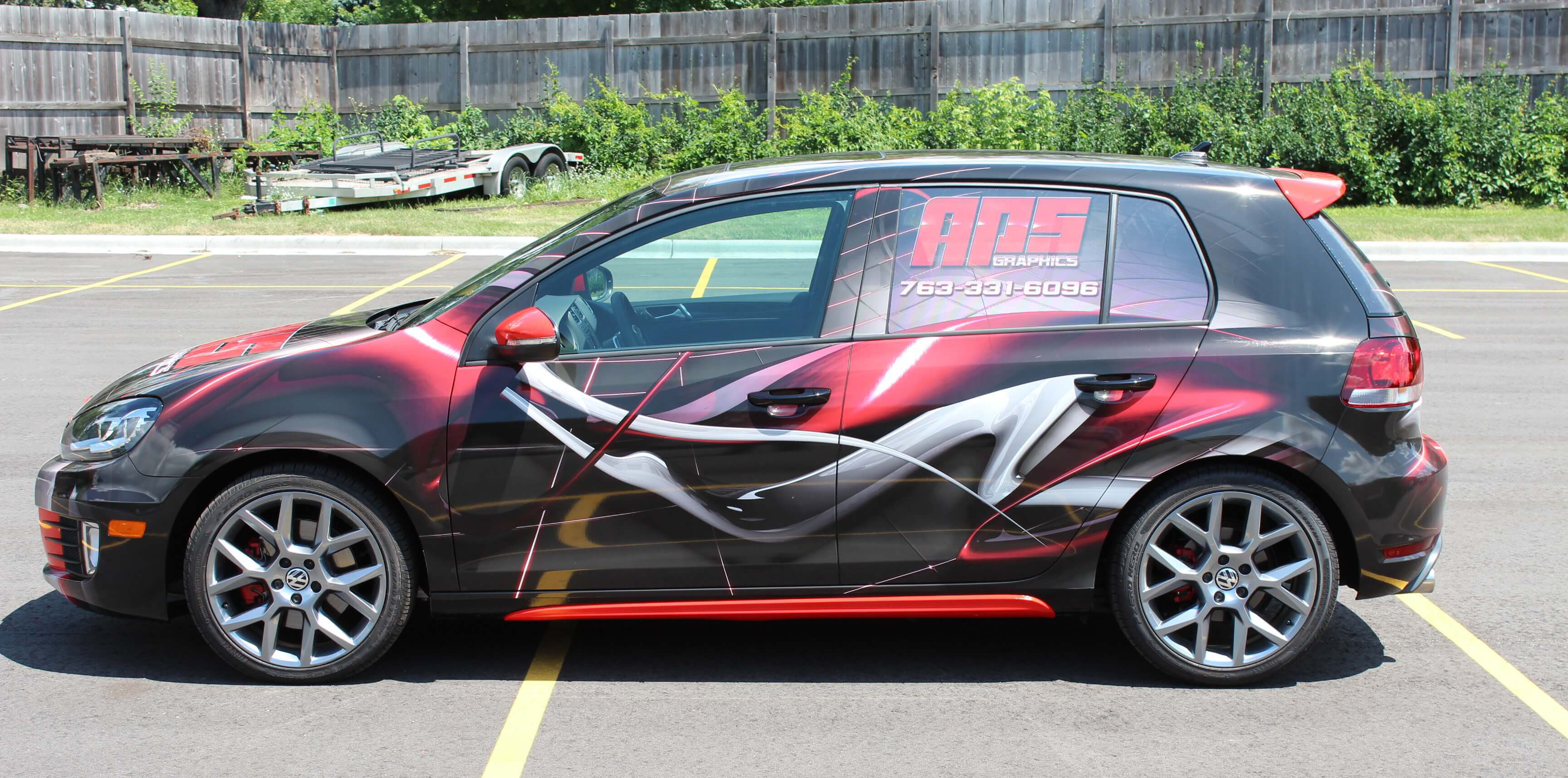 APS Vehicle Vinyl Wrap