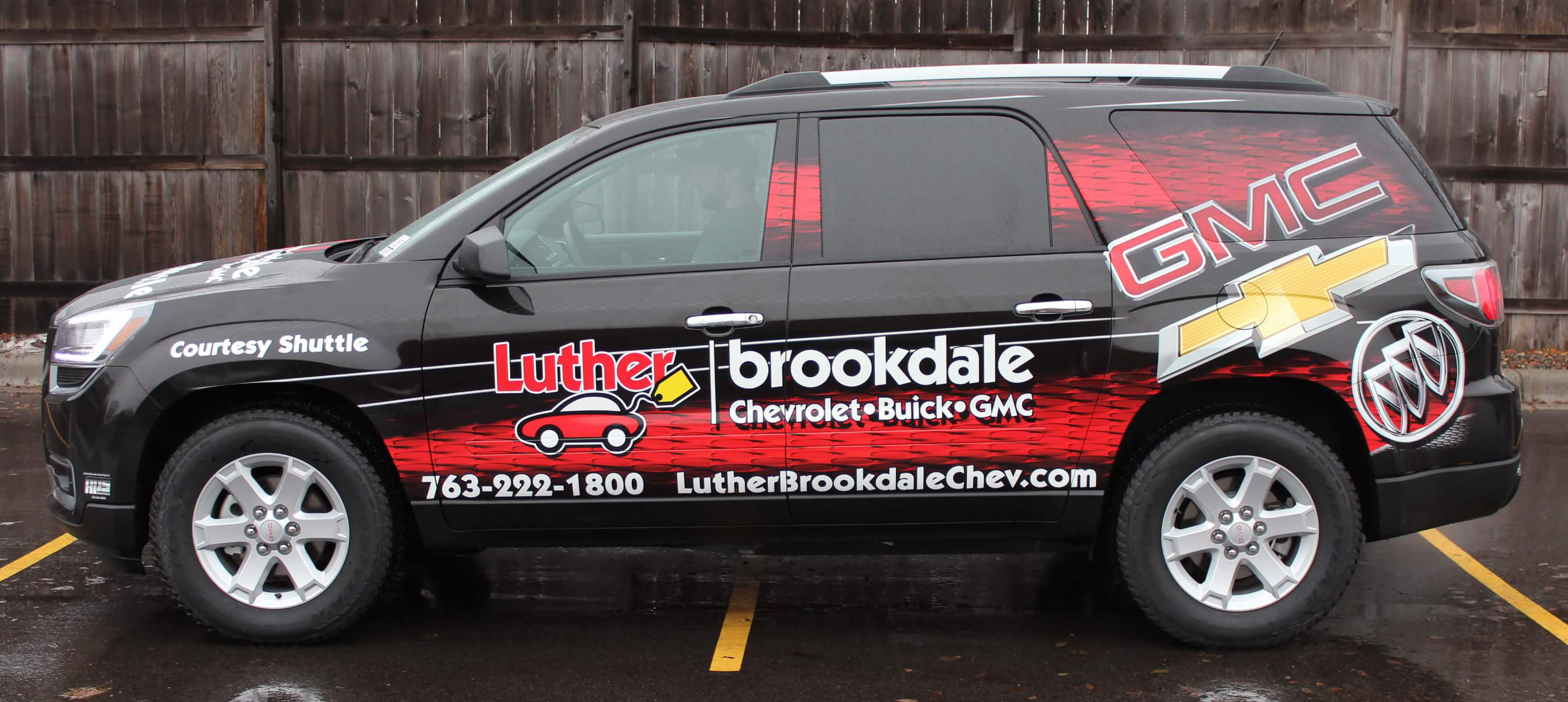 Luther Brookdale Shuttle Vehicle Wrap - Side