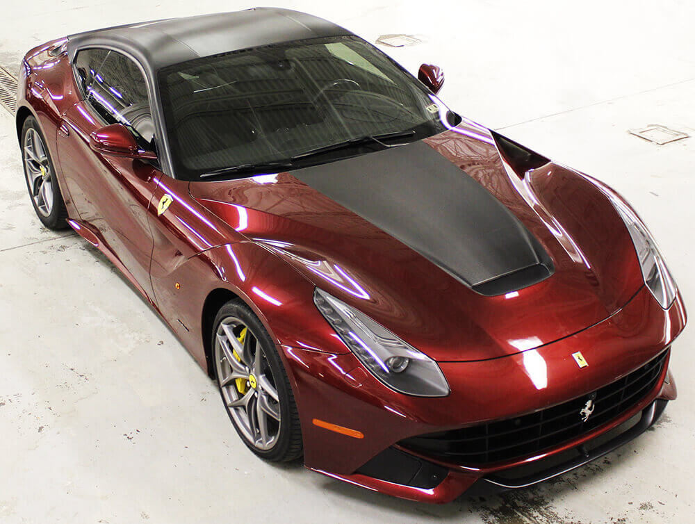 Ferrari Red Vehicle Vinyl Wrap