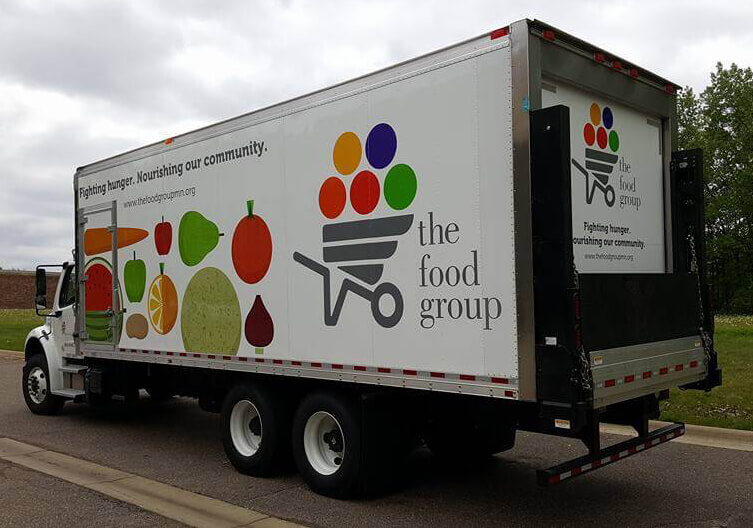 The Food Group Trailer Wrap