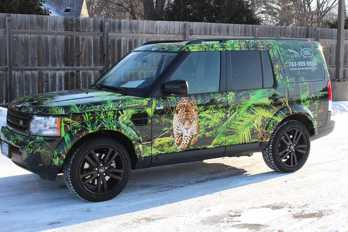 Jaguar Landrover Vehicle Wrap