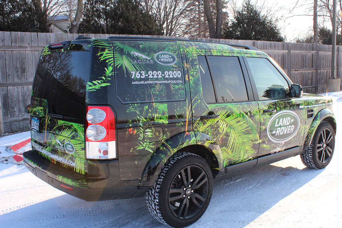 Jaguar Land Rover Vehicle Wrap - Back