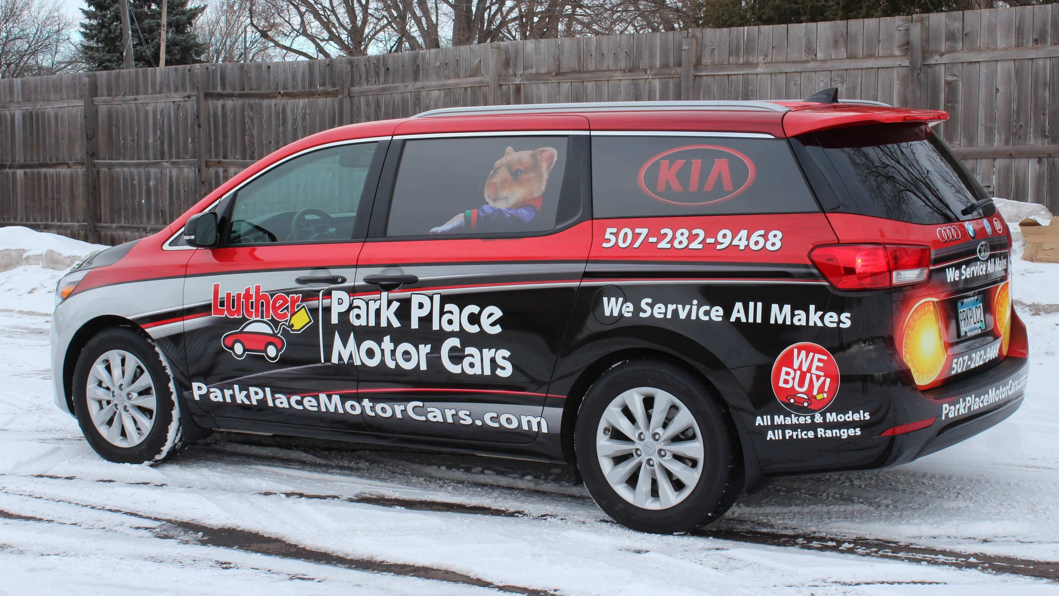 Luther Park Place Motors Vehicle Wrap