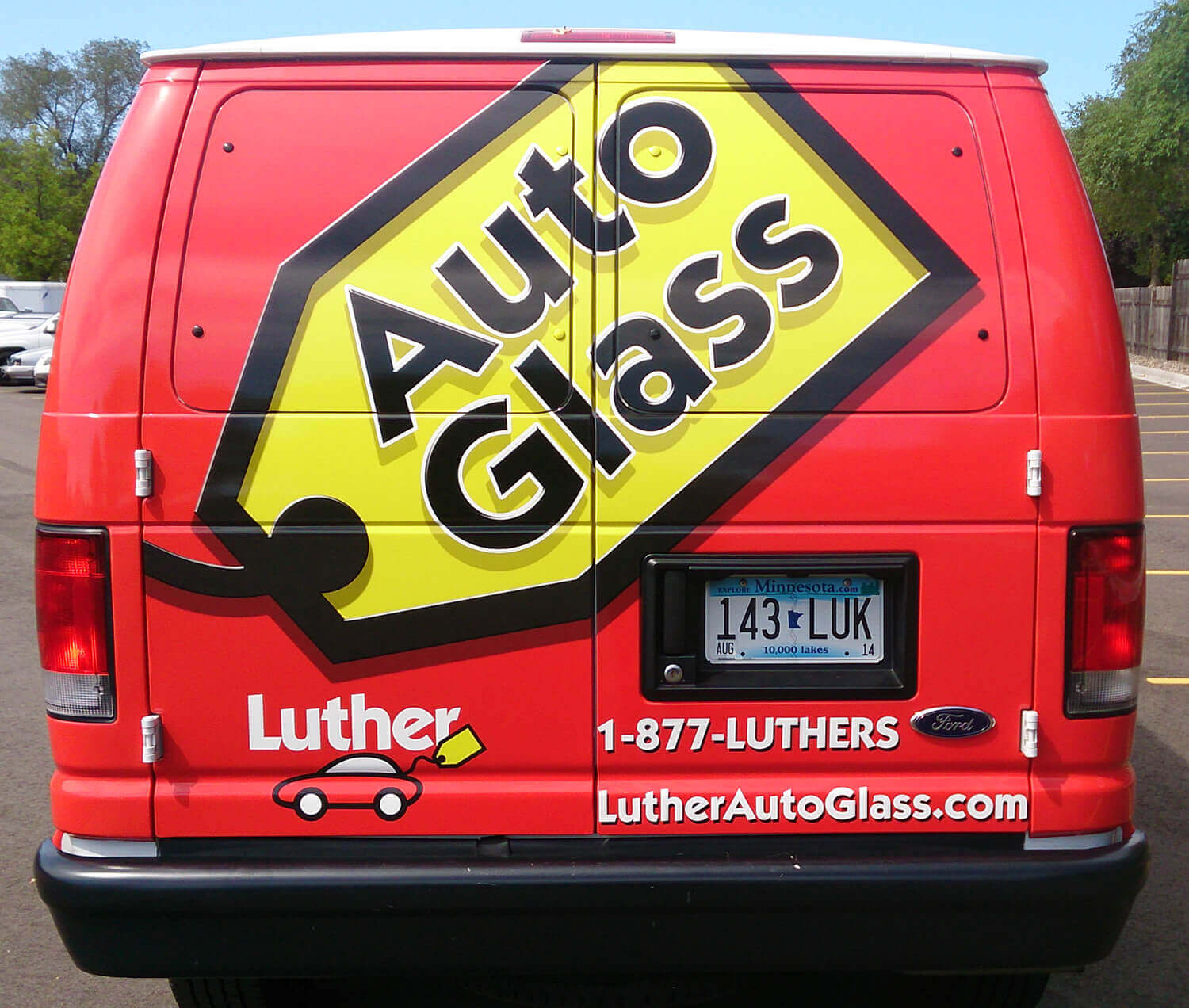 Luther Auto Glass Vehicle Wrap - Back