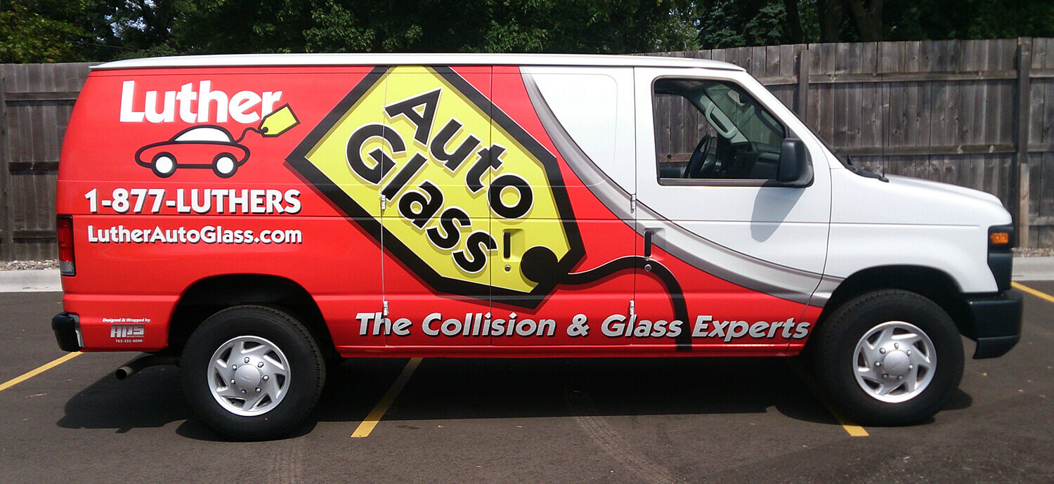 Luther Auto Glass Vehicle Wrap