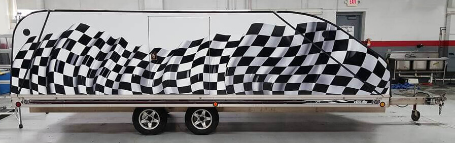 Racing Trailer Vinyl Wrap