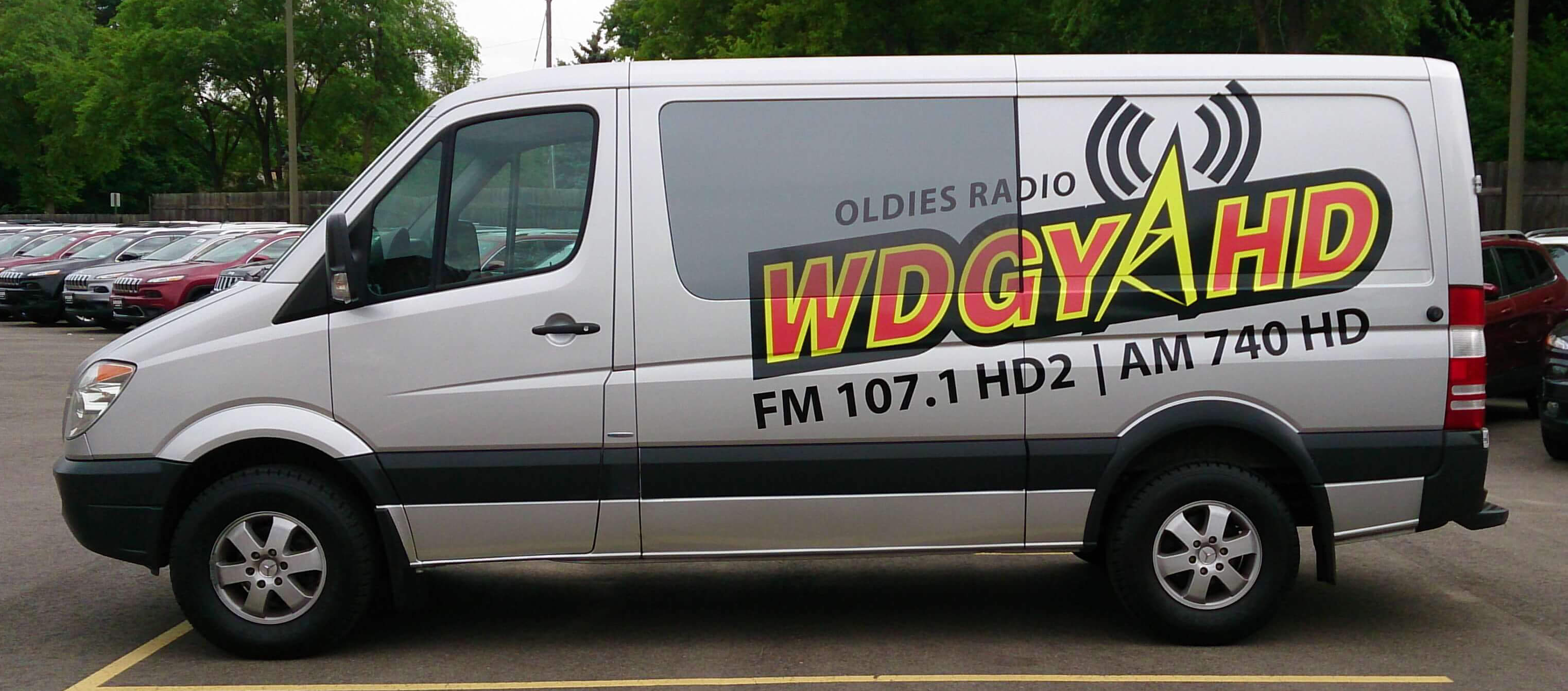 Radio Vehicle Vinyl Wrap